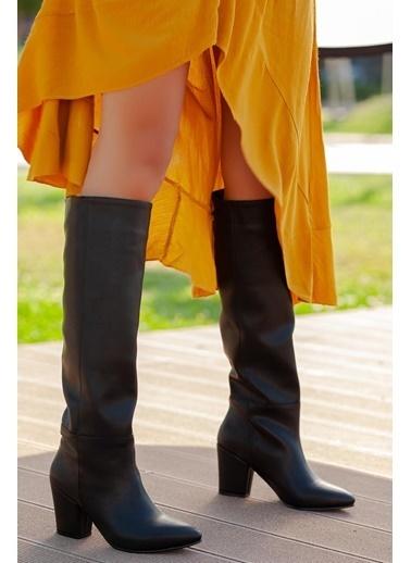 Muggo  Ilkn01 Kadın Çizme Siyah